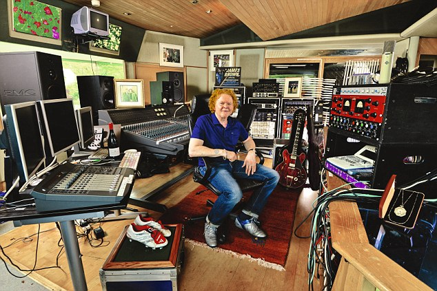 Mick Hucknall 'My Haven' his recording Studio at home in Surrey